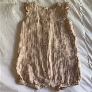 H&M Pink Cotton Romper
